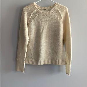 Elie Tahari White Soft Crew Sweater